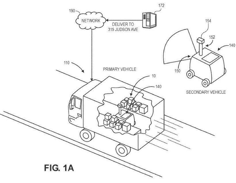 亚马逊申请辅助配送车辆专利 将包裹从卡车配送到门口